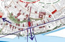 ▲紅色的為福佑宮,可看出其東側(重建街)與西側(中正路12巷),都是聯繫週邊重要歷史建築的重要巷道(圖片來源:黃瑞茂)
