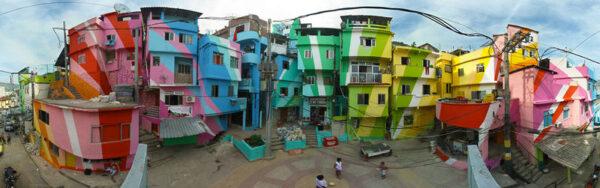 ▲巴西里約的彩繪貧民窟,是與地方文化、治安改善結合甚深的社區項目(圖片來源:goo.gl/J73gwY)